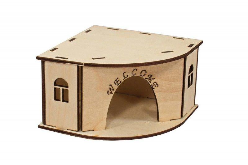 Как сделать домик из коробки для кроликов своими руками 81