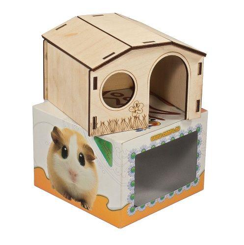 Как сделать домик из коробки для кроликов своими руками 25