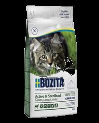 bozita feline indoor & strerilised с ягненком