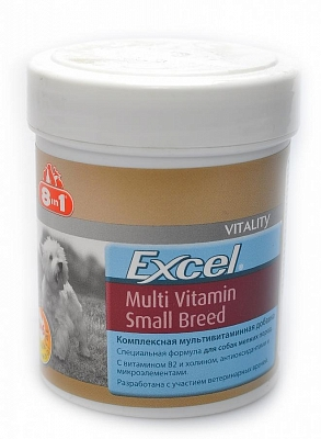 Таблетки для собак мелких пород 8IN1 EU Excel Multi Vit Small Breed