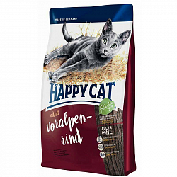 Сухой корм для кошек Happy Cat Fit & Well Adult Альпийская говядина